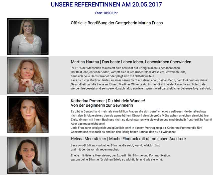 Feminess kongress Referentinen